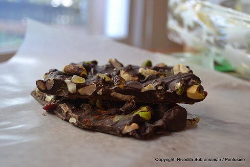 Ancho Chile cinnamon chocolate bark